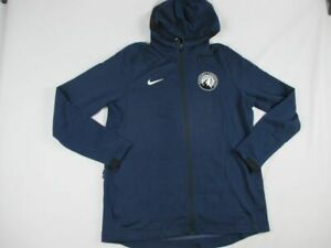 Minnesota Timberwolves Nike Jacket Men's Navy Dri-Fit New Multiple Sizes