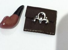 DOLLS HOUSE PIPE &  TOBACCO POUCH