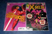 MARVELS SNAPSHOTS starring X-MEN 1 REILLY variant & reg 1st print set ALEX ROSS