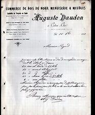 "CULAN (18) MENUISERIE / MEUBLES & BOIS ""Auguste DAUDON"" en 1912"
