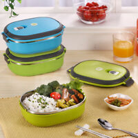 Stainless Steel Food Container Thermal Insulated Lunch Box Bento Portable Travel