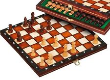 QUALITY CHESS SET.EUROPEAN MADE. MAGNETIC . FOLDING  WOODEN BOARD.    NEW
