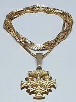 Thorhammer Mjölnir Vogelkreuz 835 Silber vergoldet Hiddensee-Schatz - / A 451