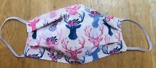 Metallic Deer Inspired 100% Cotton Fabric Face Mask New Double Sided Reversible