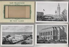 20 1936 POSTCARDS - SAN FRANCISCO CALIFORNIA - PUBLISHED BY J.C. BARDELL