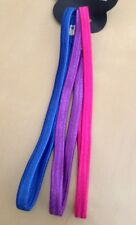 A 3 Pack Of Elasticated Head/Hair Bands Blue / Pink / Purple