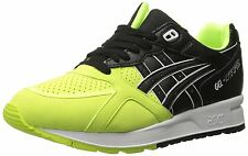 ASICS GEL Lyte Speed Retro Running Shoe, Safety Yellow/Black, 9.5 M US