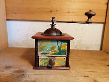 alte französische Kaffeemühle mit Bildern moulin café coffee grinder