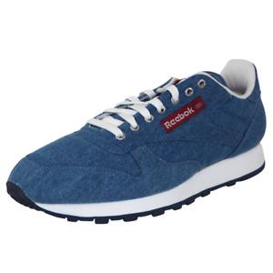Reebok Mens Shoes CL DENIM II 1-74465 Classic Blue Sneakers Vintage Size 9.5 New