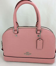 New Coach F57555 mini Sierra Leather Satchel Shoulder Handbag Purse Rose Blush