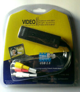 REDGO Video Audio VHS VCR USB Video Capture Card to DVD Converter Adapter