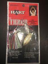 Hart Throb Ken Cook Vintage Spinner Bait 1/4oz White Red Chart 61-375