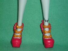 1 pr Monster high taille Rouge Chaussures Compensées ~ Poupée Non Incluse