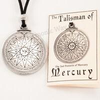 TALISMAN of MERCURY PENTACLE Solomon Seal of Magic Pendant Amulet Necklace