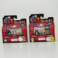 Lot of 2 - Marvel MiniMates 2-Pack Rictor Boomer Mirage Magma Action Figures