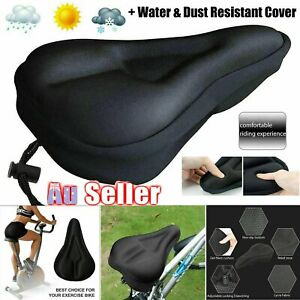 Bike EXTRA Comfort Soft Pad Comfy Cushion Saddle Seat Cover Bicycle Cycle GD