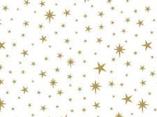 """Small Gold STAR LIGHT Print Gift Grade Tissue Paper 15""""x20"""" Choose Pack Amount"""