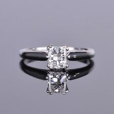 Radiant Diamond Solitaire Engagement Ring in 14k WG