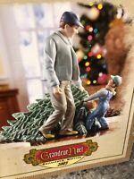 RARE LARGE Grandeur Noel Porcelain STATUE Figurine Boy With Christmas Tree 2003