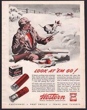 1945 WESTERN Vintage Shogun Shells Ammunition AD Beagle after rabbits