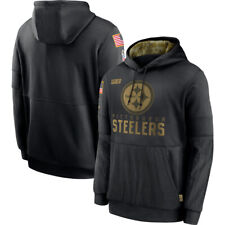 Pittsburgh Steelers Hoodie 2020 Salute to Service Sideline Therma Pullover Coat