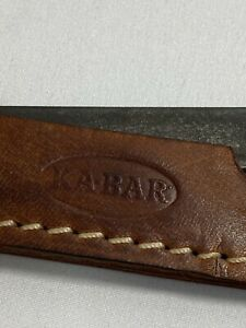"VINTAGE KA-BAR KNIFE SHARPENER INSIDE LEATHER CASE 5.5"" long X 1.25"" wide"