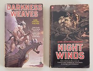 DARKNESS WEAVES & NIGHT WINDS (KANE) PAPERBACK BOOKS BY KARL EDWARD WAGNER 1978
