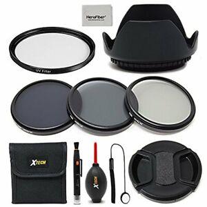 Xtech 58mm Accessories Kit f/ CANON EOS 80D 70D 60D Rebel T7i T6s T6i T6