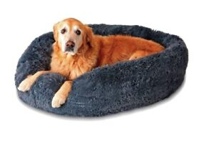 PupNaps Calming Bed Large Navy Blue