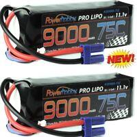 PowerHobby 3S 11.1V 9000mAh 75C Lipo Battery Pack w EC5 Plug (2 Pack)