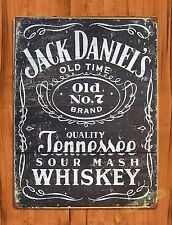 "TIN-UPS TIN SIGN ""Jack Daniels Old No.7"" Tennessee Whiskey Worn Alcohol Bar"