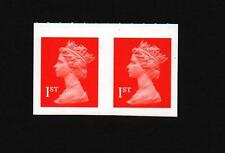 1st CLASS  PAIR  TOTAL IMPERF ERROR SG  2040ab  4mm gap NVI STAMPS MACHIN
