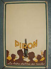 belle affiche ancienne bière Piron Aubel 1930 brasserie belge beer brewery