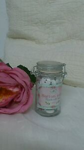 Clayre & Eef Nostalgia Deco Glass With Buttons White Roses Shabby Country