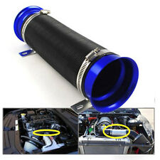 Blue 1M Adjustable Motor Turbo Cold Air Intake Duct Inlet Pipe Hose Tube Kit