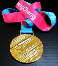 GOLD MEDAL - 2018 PYEONGCHANG KOREA WINTER OLYMPICS +SILK RIBBON & STORAGE POUCH