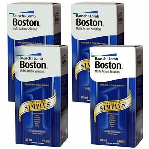 Bausch & Lomb Boston Simplus Solution, 4 x 120ml