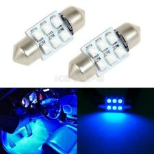 2x Blue 6SMD Epistar 31mm LED Interior Over Head Light Dome Map Lamps 12V
