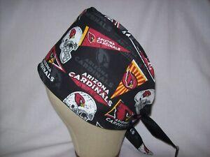 Men/Women Surgical Scrub Cap Lined Arizona Cardinals  Very Cool 100% Cotton