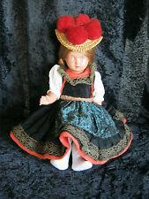 Original alte Schildkröt Puppe Schwarzwaldtracht,  sehr schöner Zustand Größe 22