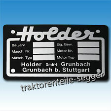 Holder Typenschild klein Einachser Traktor Schlepper Trecker