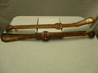 Leather Wooden Duo Combo Shoe Horn Imported Made in Spain Recuerdo de Granada