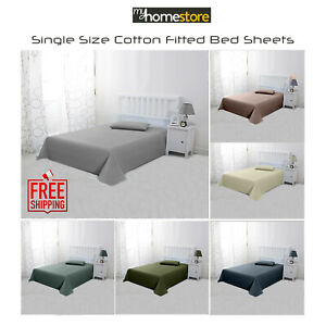 100% Egyptian Cotton Fitted Sheet Extra Deep Single Bed Size In Various Colours