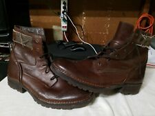 RJ Colt Leather Boots Brown Ankle High Mens Size 13 M