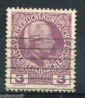 AUTRICHE, 1908-13 TIMBRE 103, CHARLES VI, oblitéré