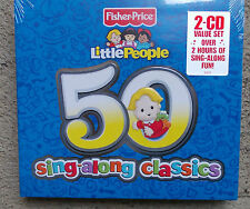 FISHER -PRICE: Little People 50 Sing-along classics 2 CDs  FREE POST