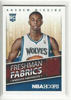 2014-15 Panini Hoops RC Andrew Wiggins Freshman Fabrics Jersey Rookie Card #6