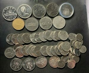 Old Canada Coin Lot - 20 CANADIAN DOLLARS - Nice Coins - Lot #L29