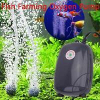 Ultra-Silent 3W / 5W Aquarium Luftpumpe Aquarium Boost Sauerstoffpumpe Neu