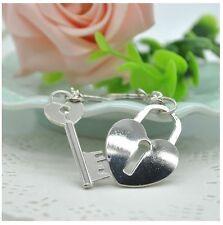 2pcs Pair Couple Keychains Heart Lock Key USA Shipper Fast #13